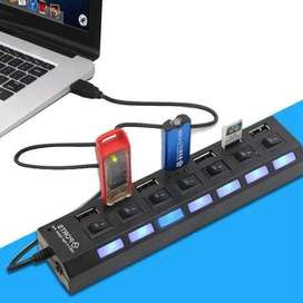 Zapatilla 7 Usb 2.0 Hub Hispeed Universal Samsung Iphone