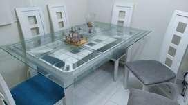 Mesa Comedor 6 Puestos Roble