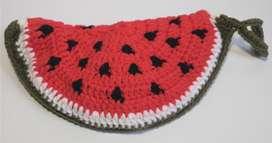 Sandia adorno para la cocina artesanal tejido a crochet