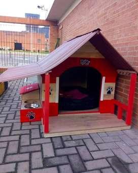 Casas de perro en madera Grandes