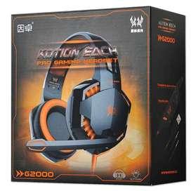 Diadema Gamer Profesional Kotion Each G2000 Micrófono Y Led