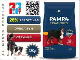 Pampa Criadores Perros Adultos 22 Kg.