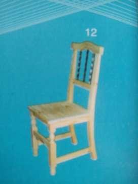 sillas de madera con hierro a 990 pesos nuevas