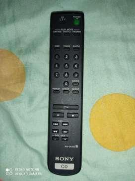 Control remoto Sony unidad de cd
