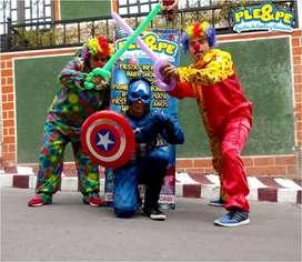 Fiestas infantiles, animacion, decoracion, animadotes, recreadores, baby shower, personajes, payasos, globoflexia