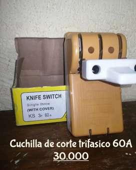 Cuchilla de corte trifasico 60A