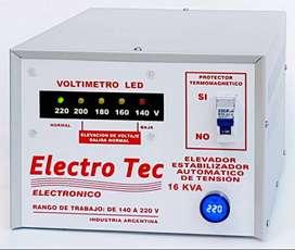 Elevador estabilizador automático de tensión.