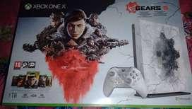 xbox one x edicion gears 5 como nueva con caja