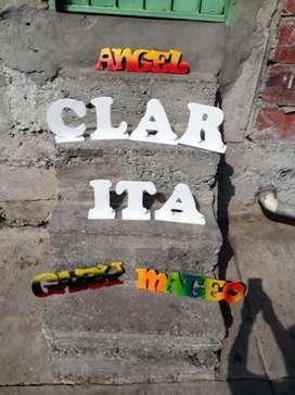 Letras en Madera MDF