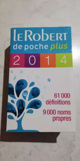 Diccionario monolingue de francés.