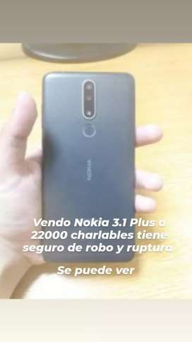 Vendo Nokia 3.1 Plus  22000 chsrlables