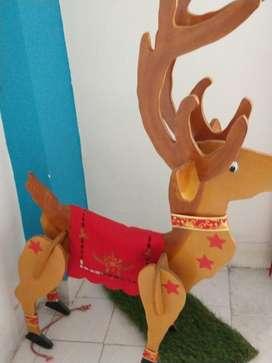 Vendo Reno de Navidad Hecho en Madera