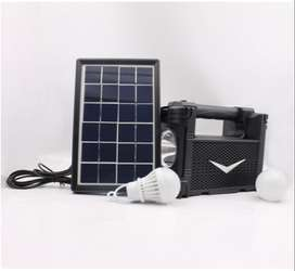 KIT BATERIA RECARGABLE + PANEL SOLAR Y 3 FOCOS