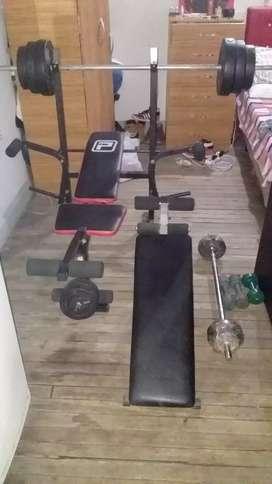banco de pesas multi ejercicios lo vendo por motivo de viajes