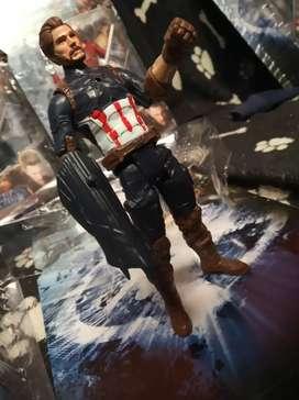 Extraordinaria Colección de figuras de acción marvel capitán america