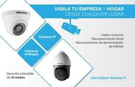Alarmas y cámaras de seguridad / Hogares y locales comerciales.