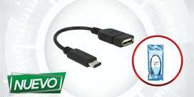 CABLE OTG USB A  TIPO C 2.0 ¡DOMICILIO GRATIS BAJO COSTO!