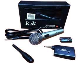Micrófono Inalámbrico Y Cable 2 En 1 Profesional Alta Calida.