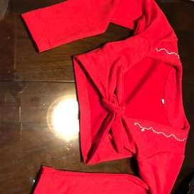 Chaleco rojo para niña