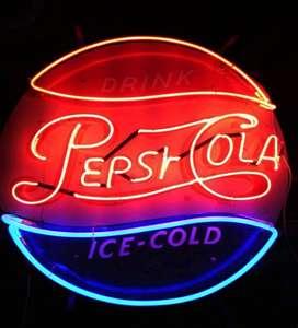 Neón Pepsi Años 60´s Original