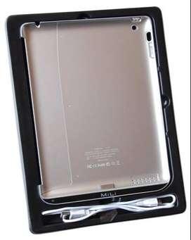 Bateria de reserva carcasa carcaza protector para tableta IPad 2 marca Mili