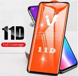 Mica de vidrio Full Pega todo 11D para Motorola G9 Plus