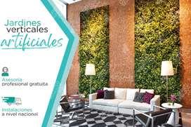 Jardines Verticales artificiales con Protección Climática UV todo Ecuador