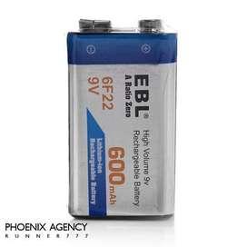 Bateria Pila Cuadrada 9v Recargable 600mah
