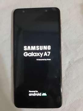 Remato celular samsung A 7 2018 dual sim. Usado