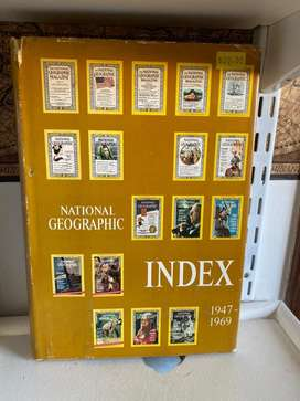 Libro National Geographic Index 1947 1969
