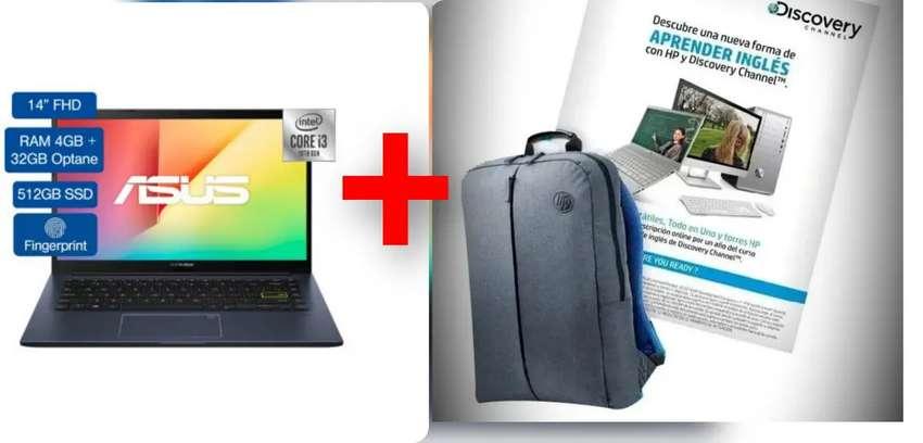 Portatil Asus 512 SSD + Morral y curso de inglés x 1 año