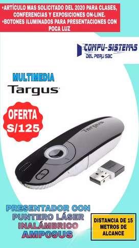 Presentador con puntero laser inalambrico AMP09US