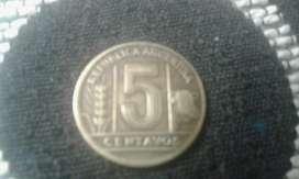 Moneda De 5 Centavos Argentina Año 1944