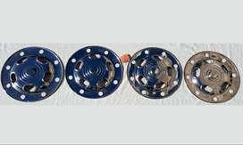 4 Tazas antiguas retro cromadas