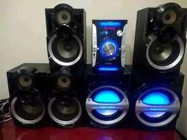 Equipo de sonido Panasonic SA-AKX94 de 6 bafles 2080w reales  usb