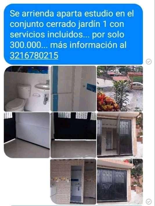 ARRIENDO DE UN APARTAESTUDIO CON ADMINISTRACIÓN Y SERVICIOS INCLUIDOS. 0