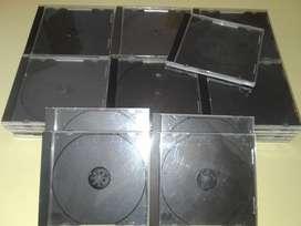 lote de 35 cajas de cd o dvd acrilicas usadas