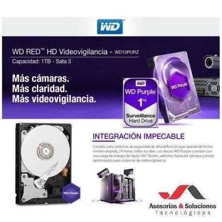 Disco Duro 1 Tera Wester Digital Purple Para DVR NVR 0
