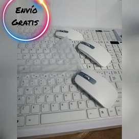 Combo inalámbrico tipo Apple Teclado y mouse, protector de goma