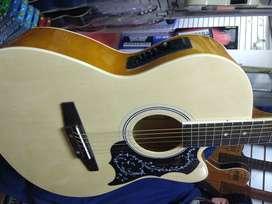 perfecta guitarra freeman  electro acustica cuerdas de metal