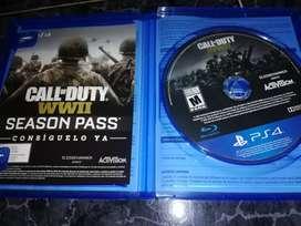 Juego Call of Duty: WWII ps4 en físico usado excelente estado