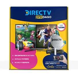 Kit DirecTV prepago, antena, Deco y control