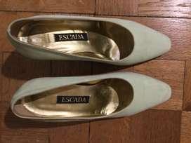 Zapatos Italianos Escada Gamuza Verde Agua 37 B Alto Palermo, CABA y Mar del Plata Envíos a todo Argentina