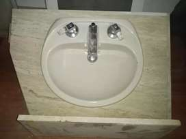 Se vende mueble de mármol con lavamos