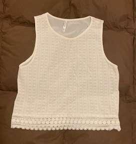 Camisa blanca talle S