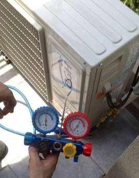 Servicio Técnico Aire Acondicionado, Carga Gas, Matriculado