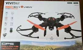 súper dron VIVITAR skyview con DOBLE GPS