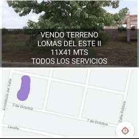 VENDO TERRENO 11 x 41 mts, LOMAS DEL ESTE II