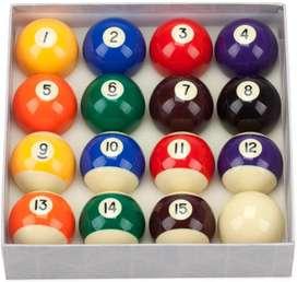 Set de bollas de billar billard pool 15 bolas y la bola blanca