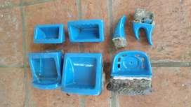 i antiguo ferrum y accesorios de baño